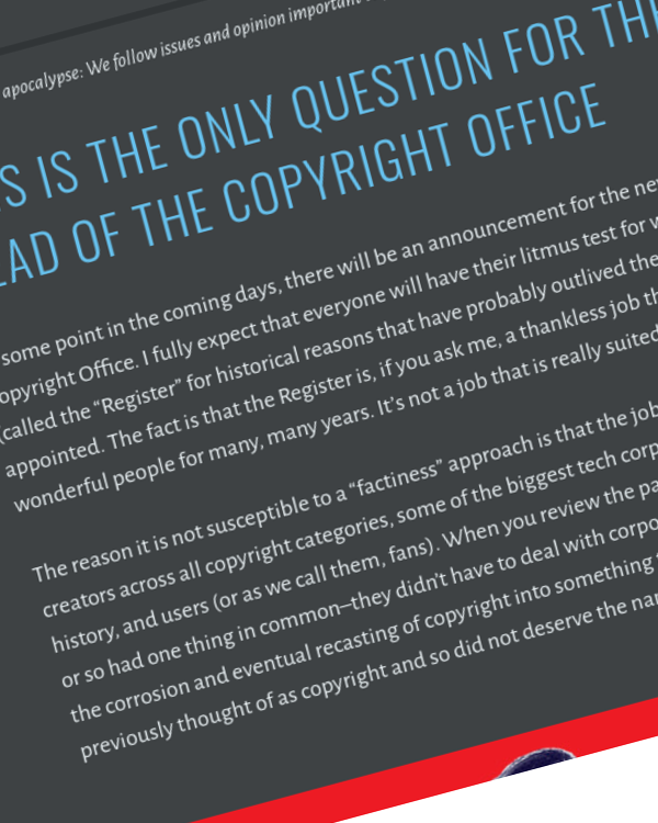 Fairness Rocks News This is the Only Question for the Next Head of the Copyright Office