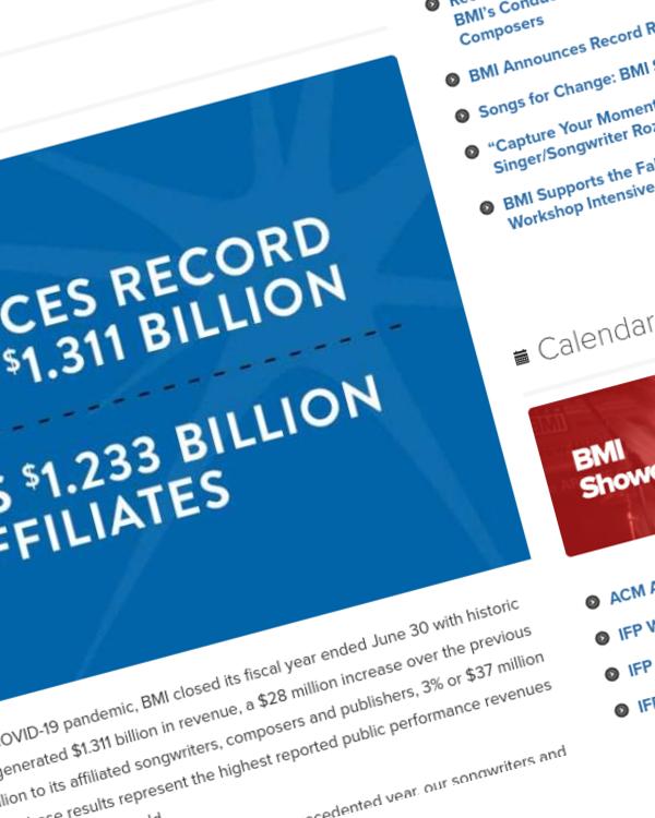 Fairness Rocks News BMI Announces Record Revenue of $1.311 Billion