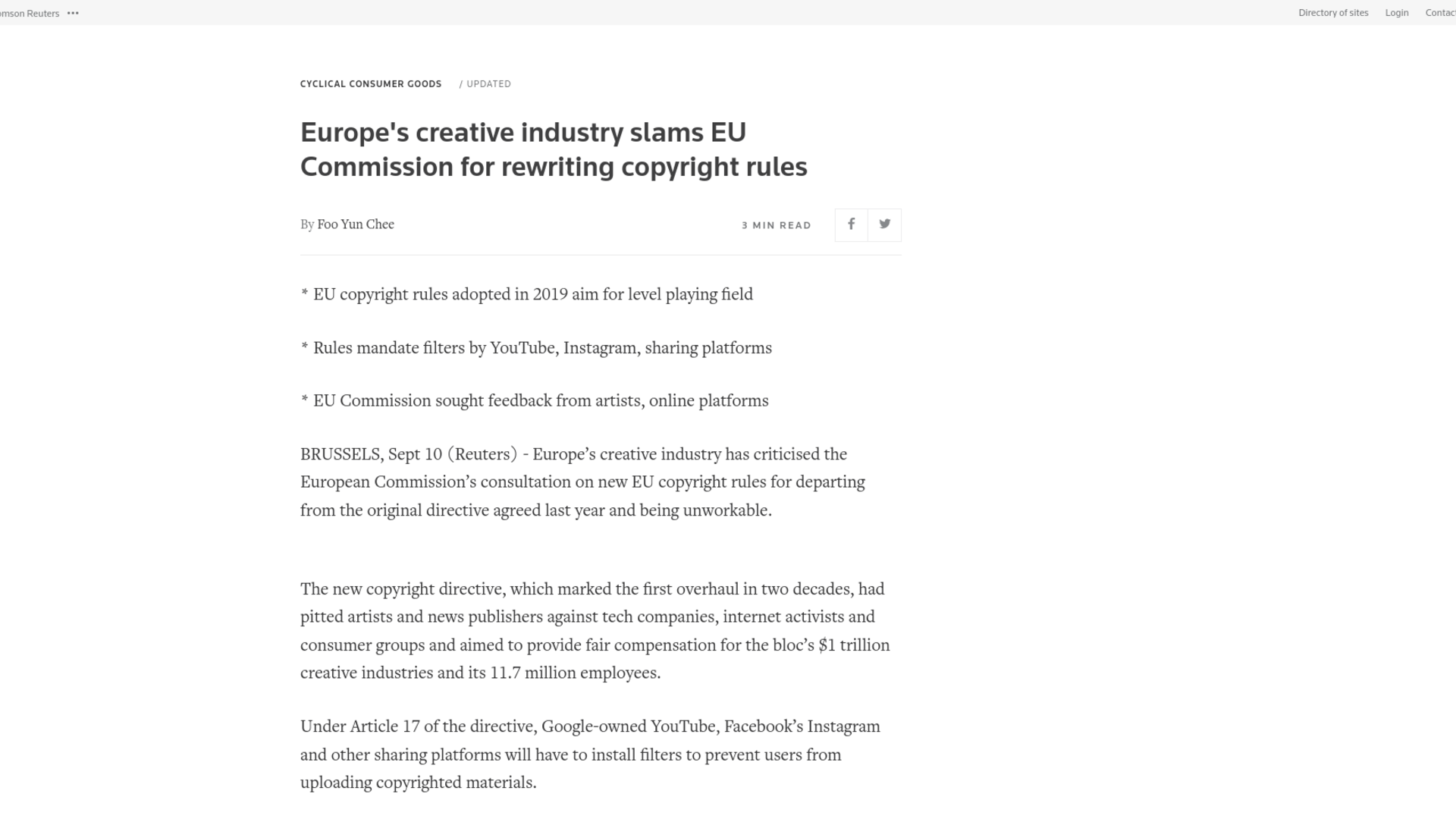 Fairness Rocks News Europe's creative industry slams EU Commission for rewriting copyright rules