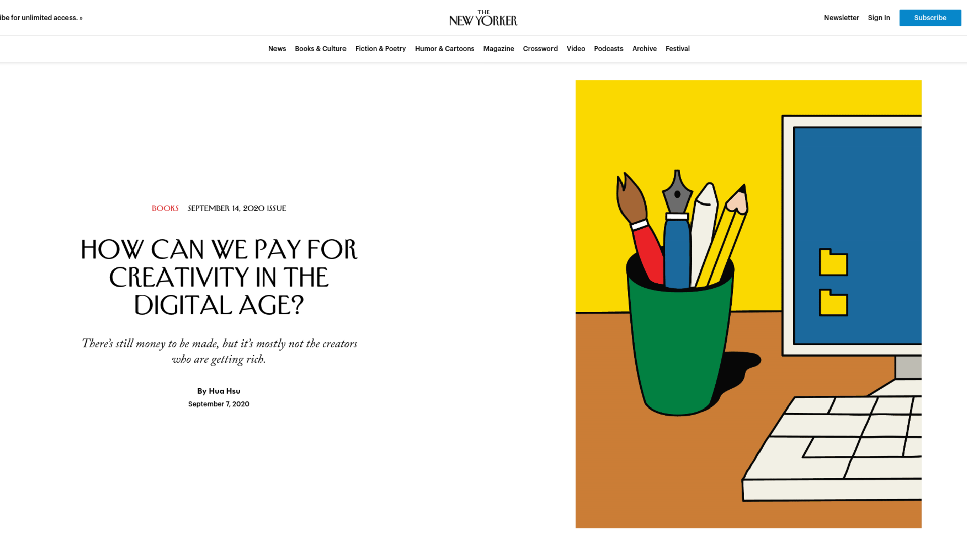 Fairness Rocks News How Can We Pay for Creativity in the Digital Age?