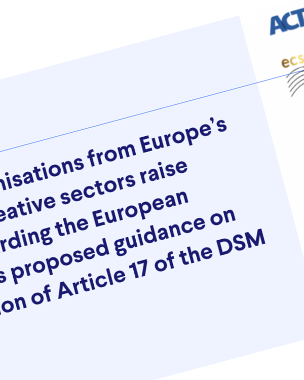 Fairness Rocks News Letter to the European Commission regarding Article 17 of the DSM Directive