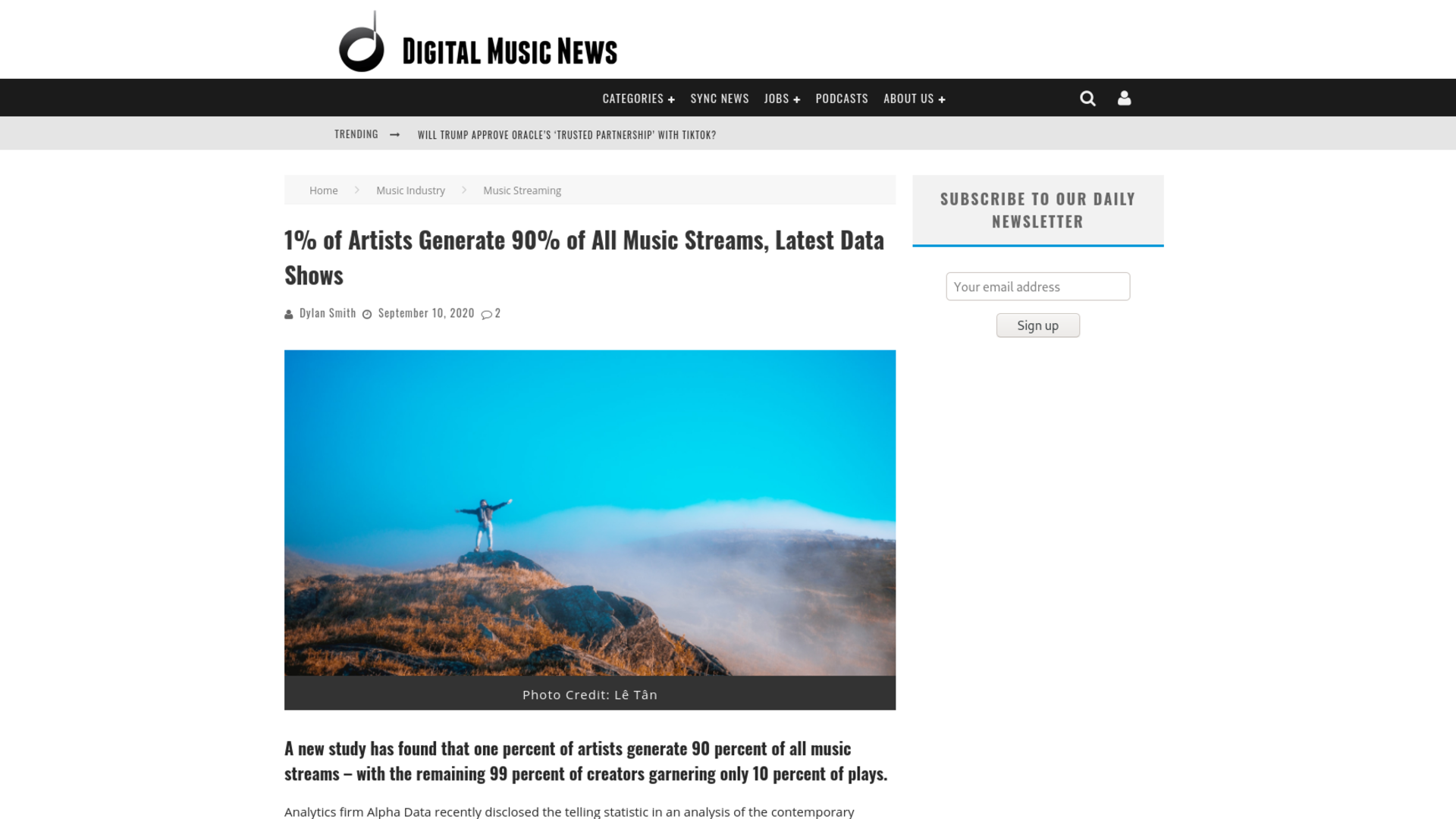 Fairness Rocks News 1% of Artists Generate 90% of All Music Streams, Latest Data Shows