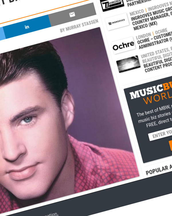 Fairness Rocks News Sony Music reaches $12.7m settlement in artist royalties suit brought by Rick Nelson estate