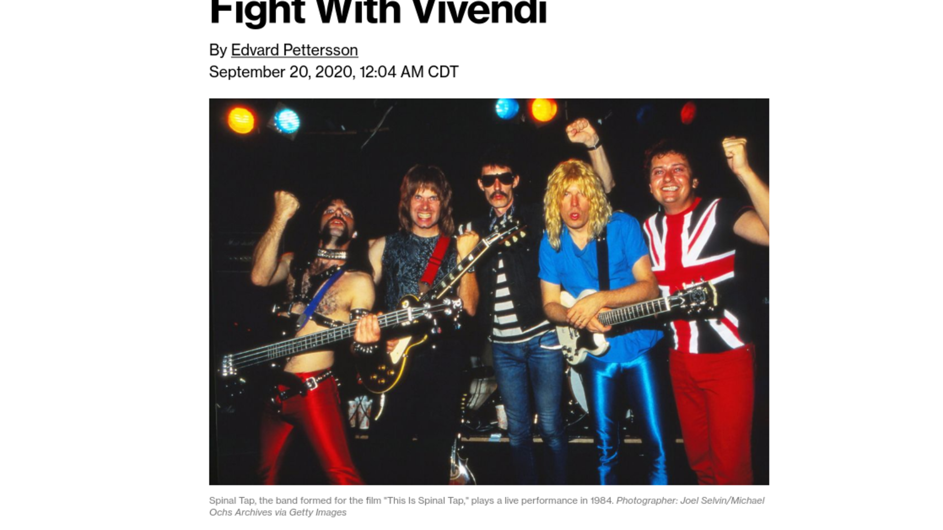 Fairness Rocks News 'Spinal Tap' Creators Settle Royalties Fight With Vivendi