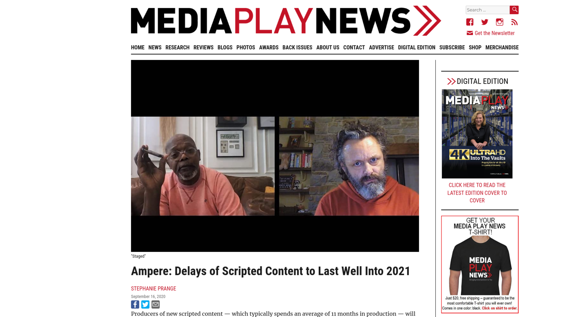 Fairness Rocks News Ampere: Delays of Scripted Content to Last Well Into 2021