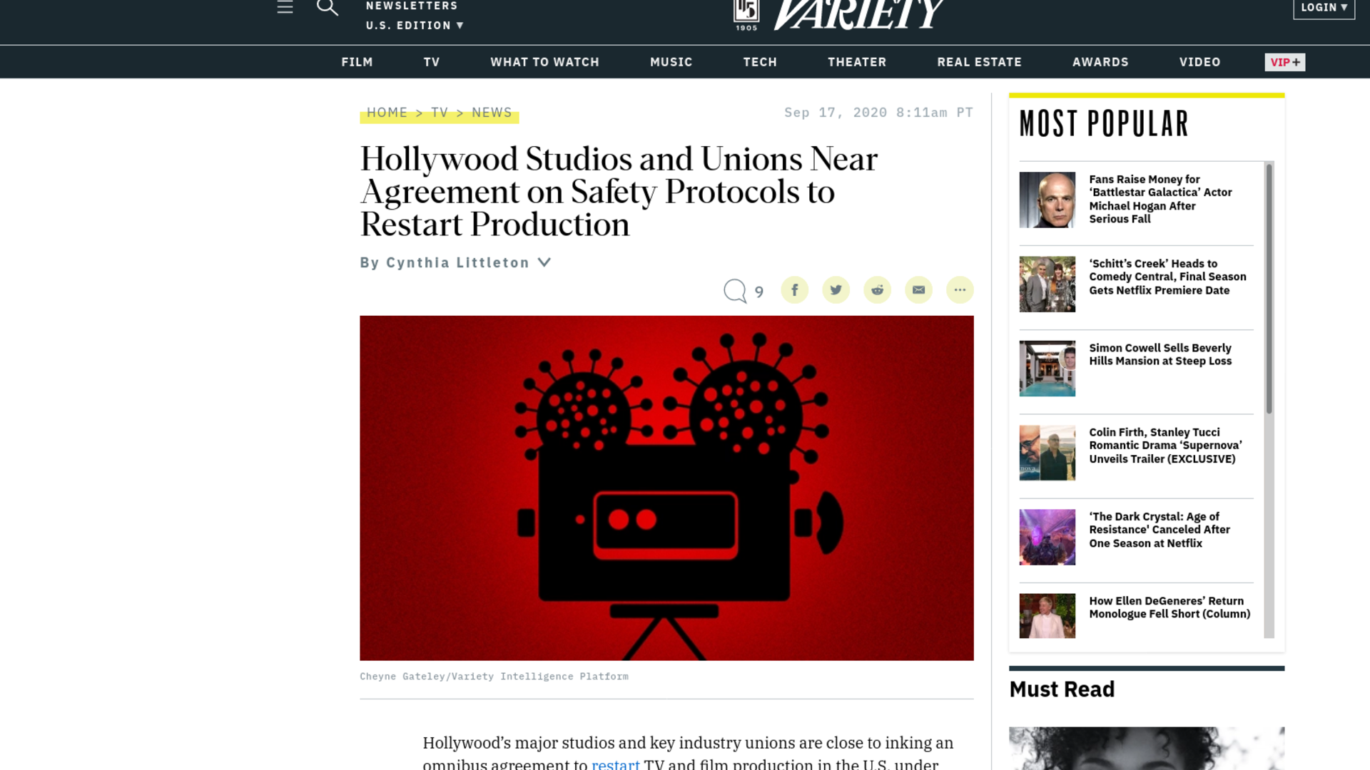 Fairness Rocks News Hollywood Studios and Unions Near Agreement on Safety Protocols to Restart Production