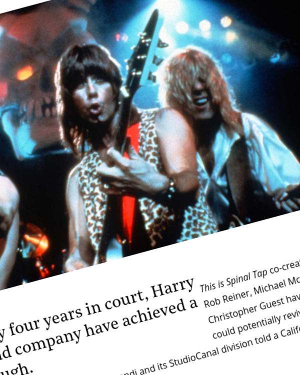 Fairness Rocks News 'Spinal Tap' Creators Settle Rights Dispute With StudioCanal