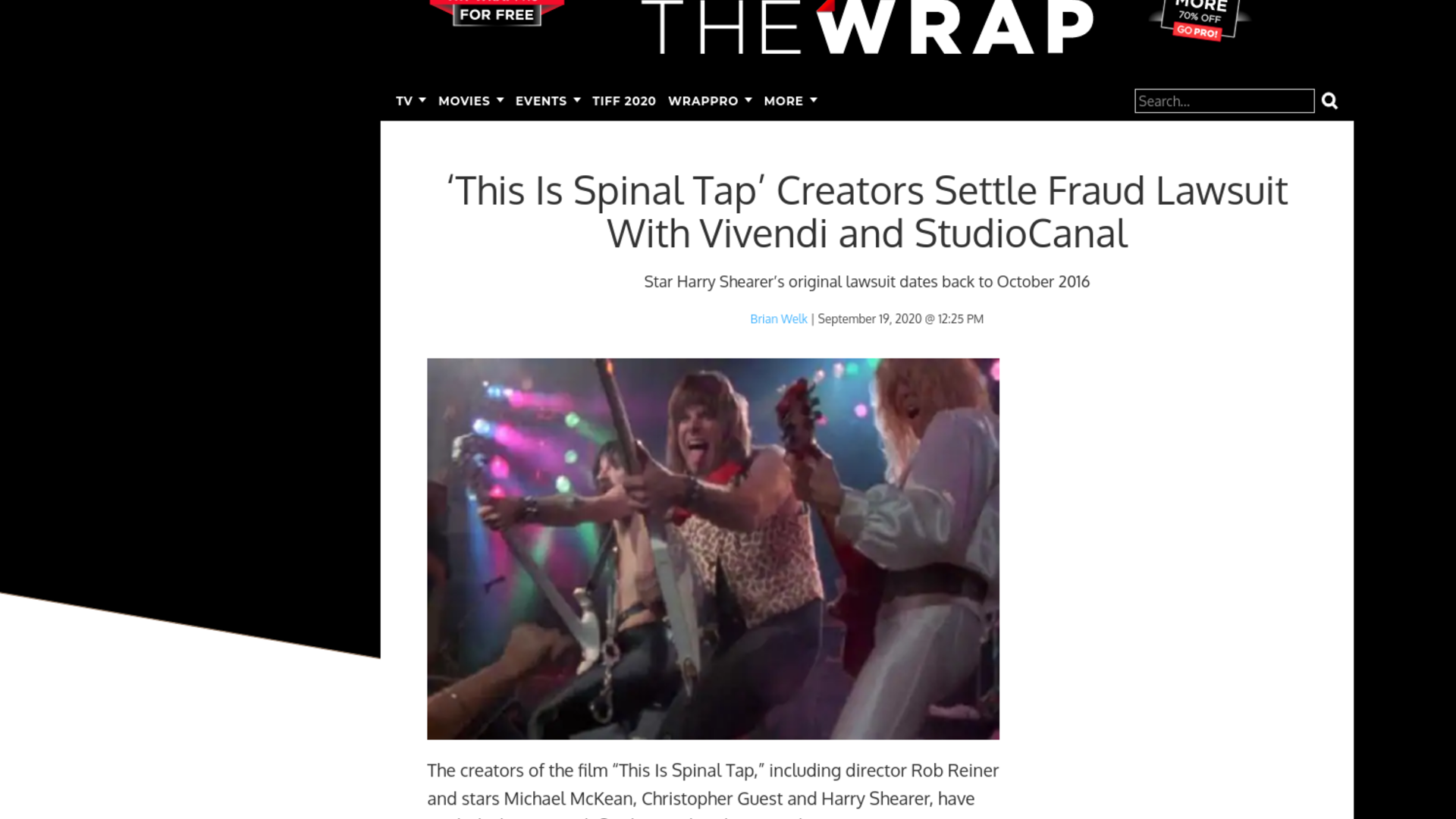 Fairness Rocks News 'This Is Spinal Tap' Creators Settle Fraud Lawsuit With Vivendi and StudioCanal