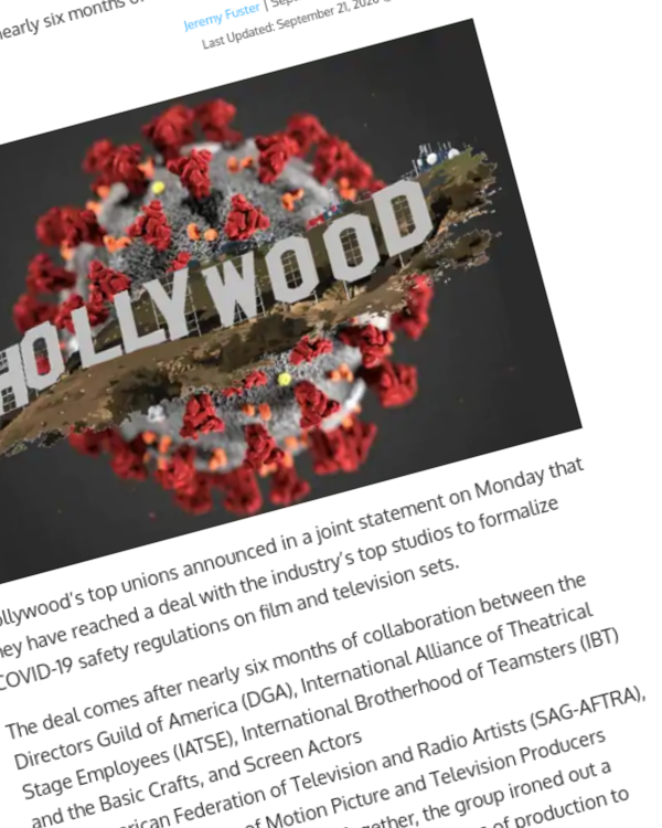 Fairness Rocks News Hollywood Unions Finalize Formal COVID-19 Safety Regulations With Studios