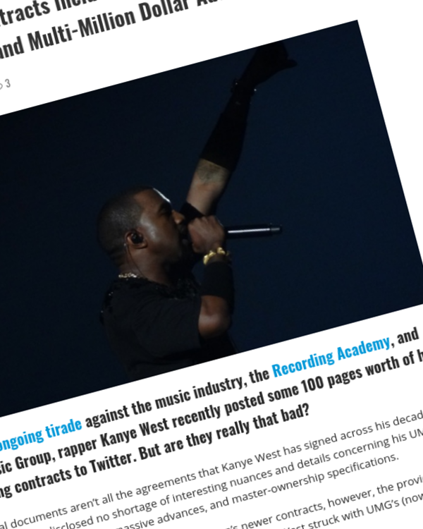 Fairness Rocks News Kanye West's Label Contracts Include Master Ownership, Profit-Sharing Deals, and Multi-Million Dollar Advances