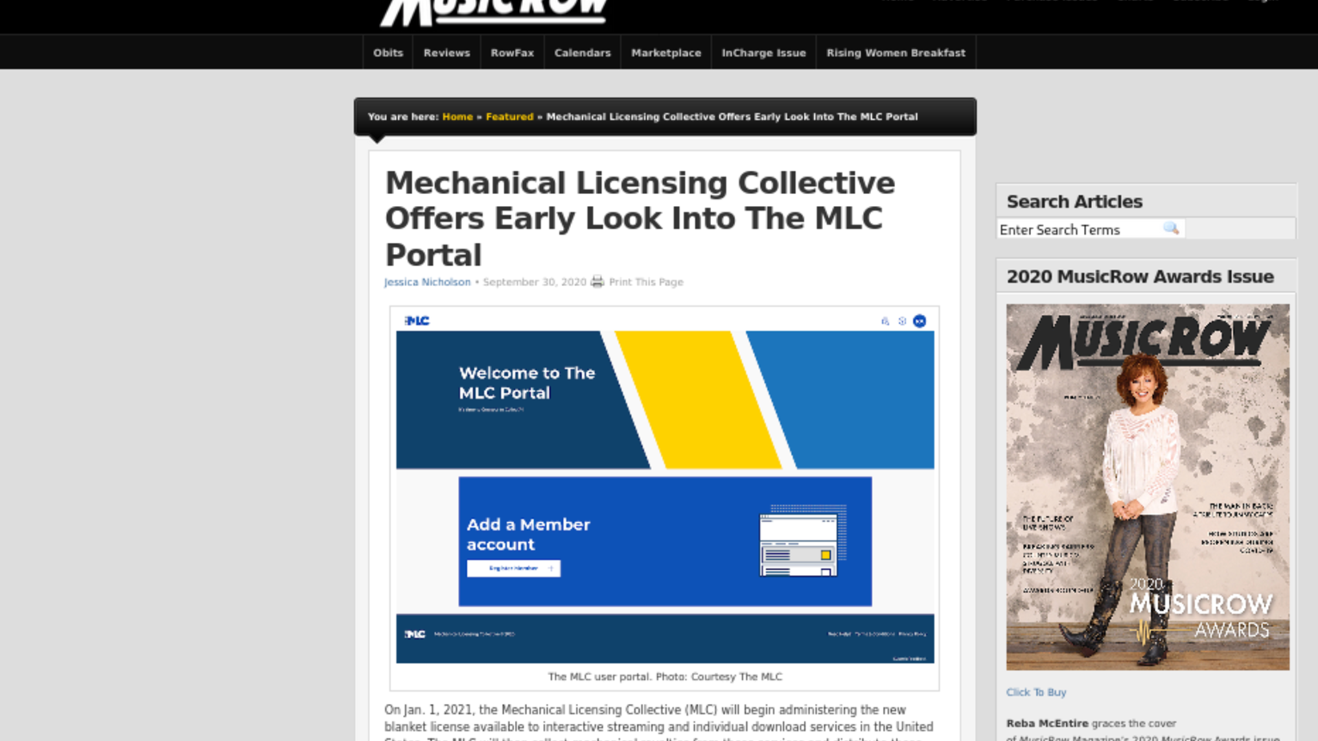 Fairness Rocks News Mechanical Licensing Collective Offers Early Look Into The MLC Portal