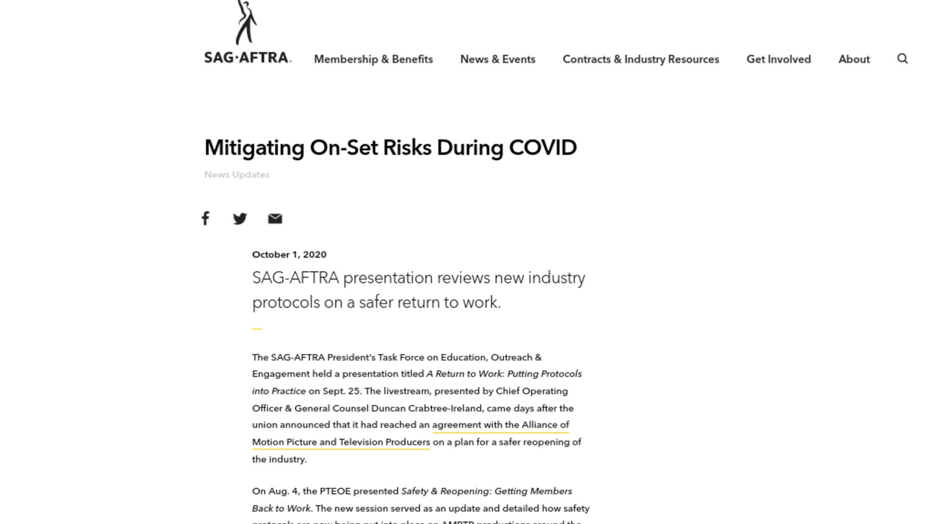 Fairness Rocks News Mitigating On-Set Risks During COVID