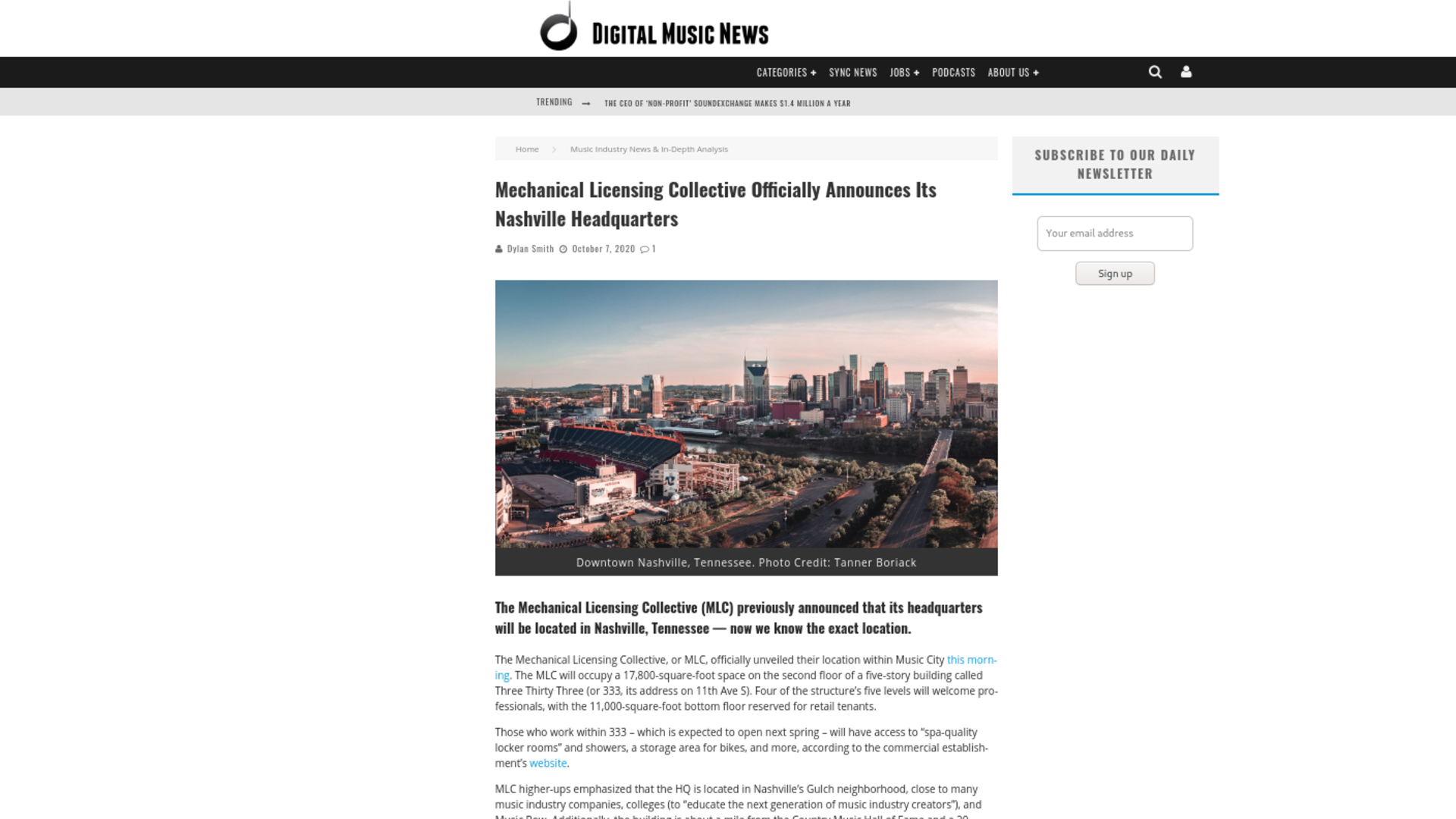 Fairness Rocks News Mechanical Licensing Collective Officially Announces Its Nashville Headquarters