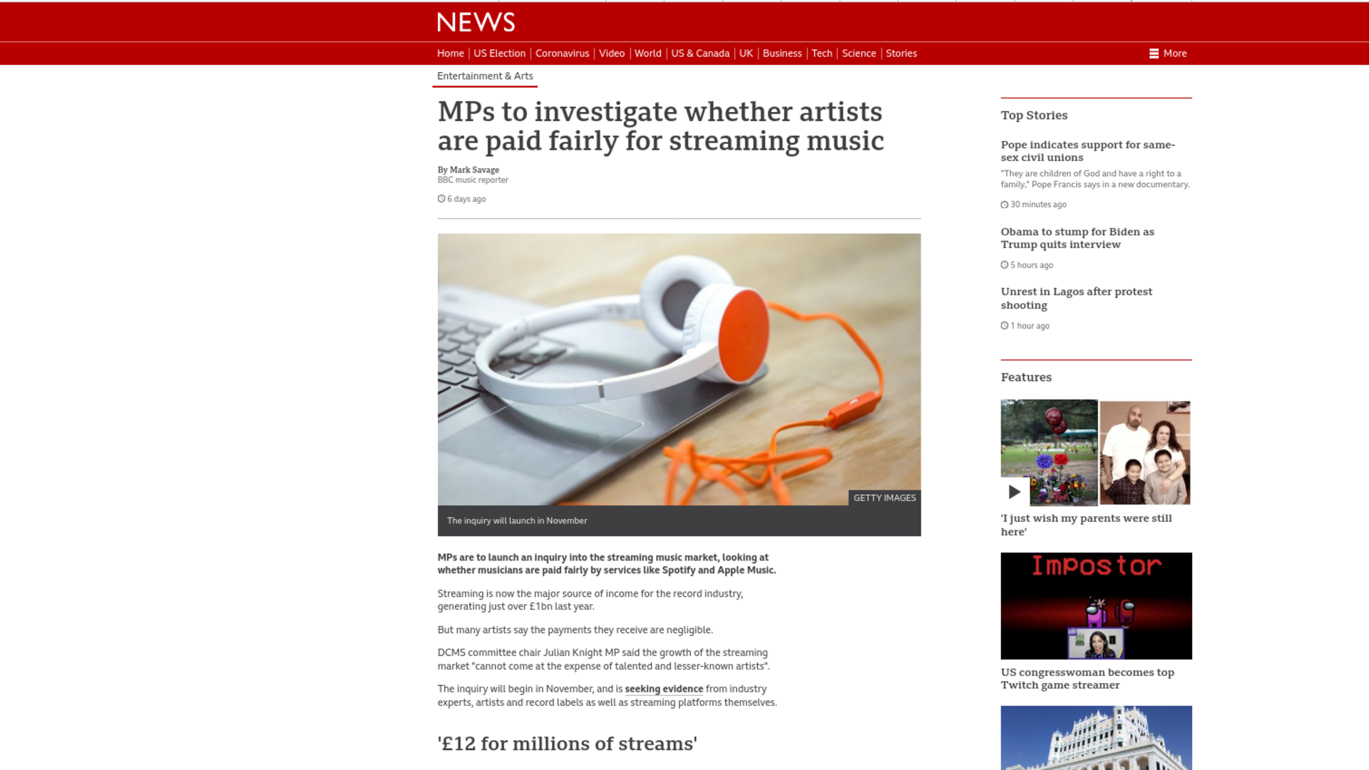 Fairness Rocks News MPs to investigate whether artists are paid fairly for streaming music