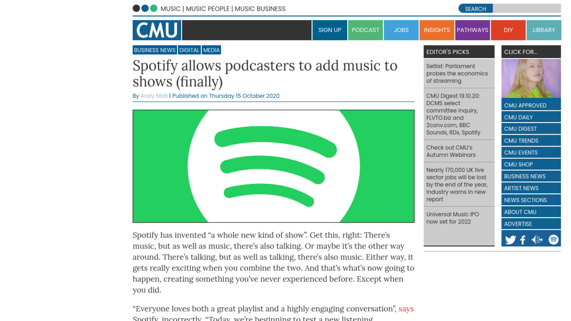 Fairness Rocks News Spotify allows podcasters to add music to shows (finally)