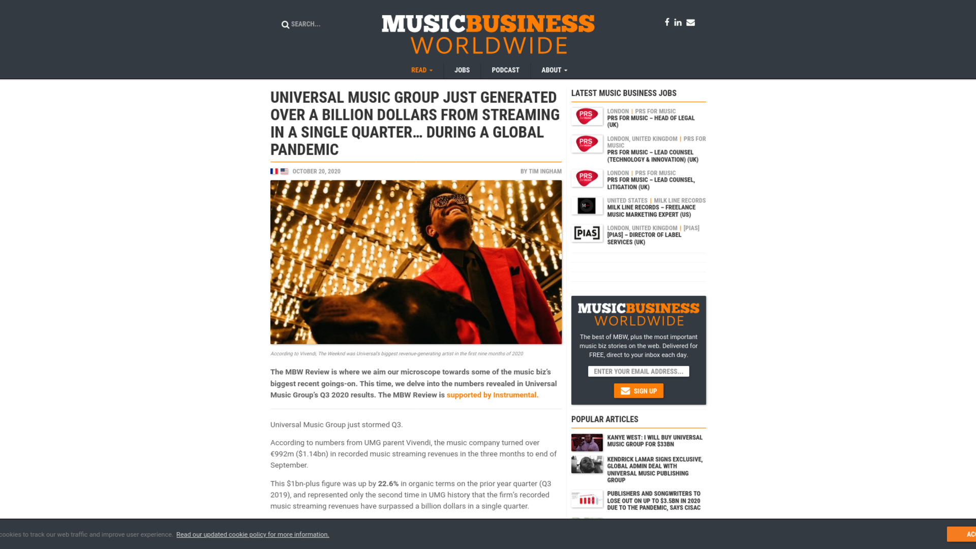 Fairness Rocks News Universal Music Group just generated over a billion dollars from streaming in a single quarter… during a global pandemic