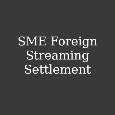 Fairness Rocks News SME Foreign Streaming Settlement