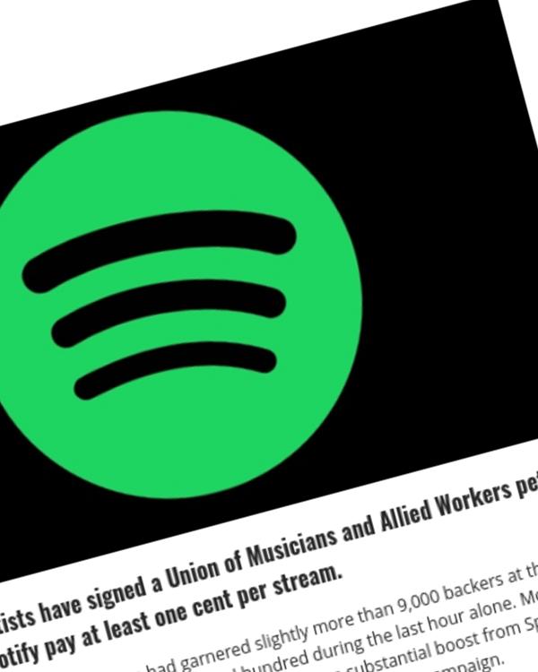 Fairness Rocks News More Than 9,000 Artists Demand 1 Cent-Per-Stream Minimums from Spotify