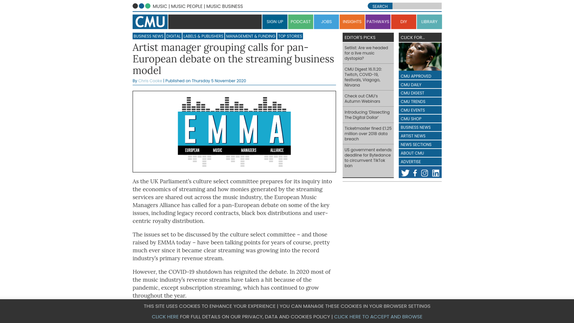 Fairness Rocks News Artist manager grouping calls for pan-European debate on the streaming business model