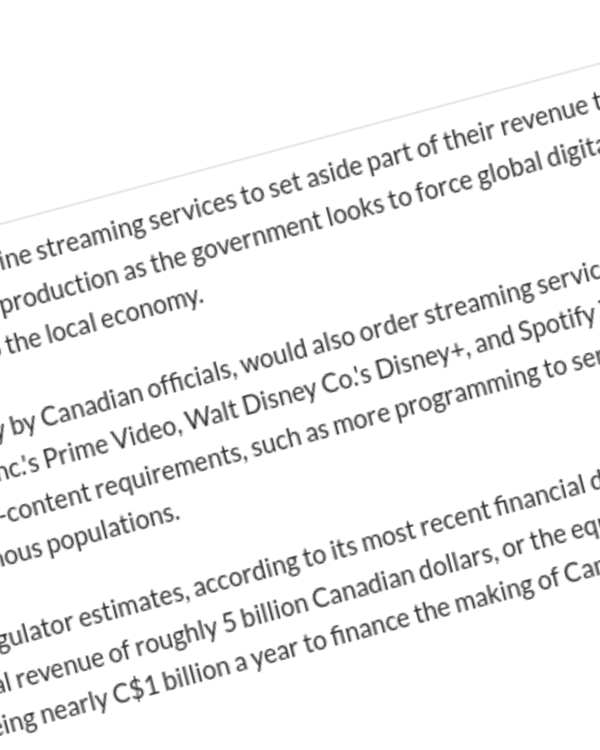 Fairness Rocks News Canada proposes tax on streaming companies