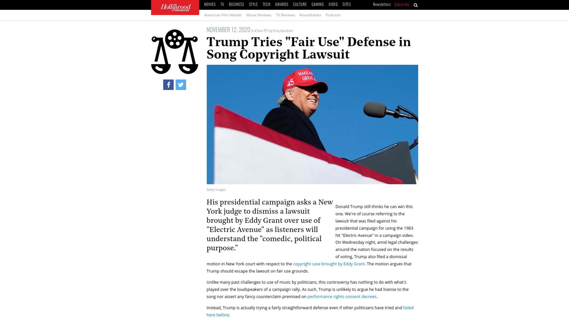 "Fairness Rocks News Trump Tries ""Fair Use"" Defense in Song Copyright Lawsuit"