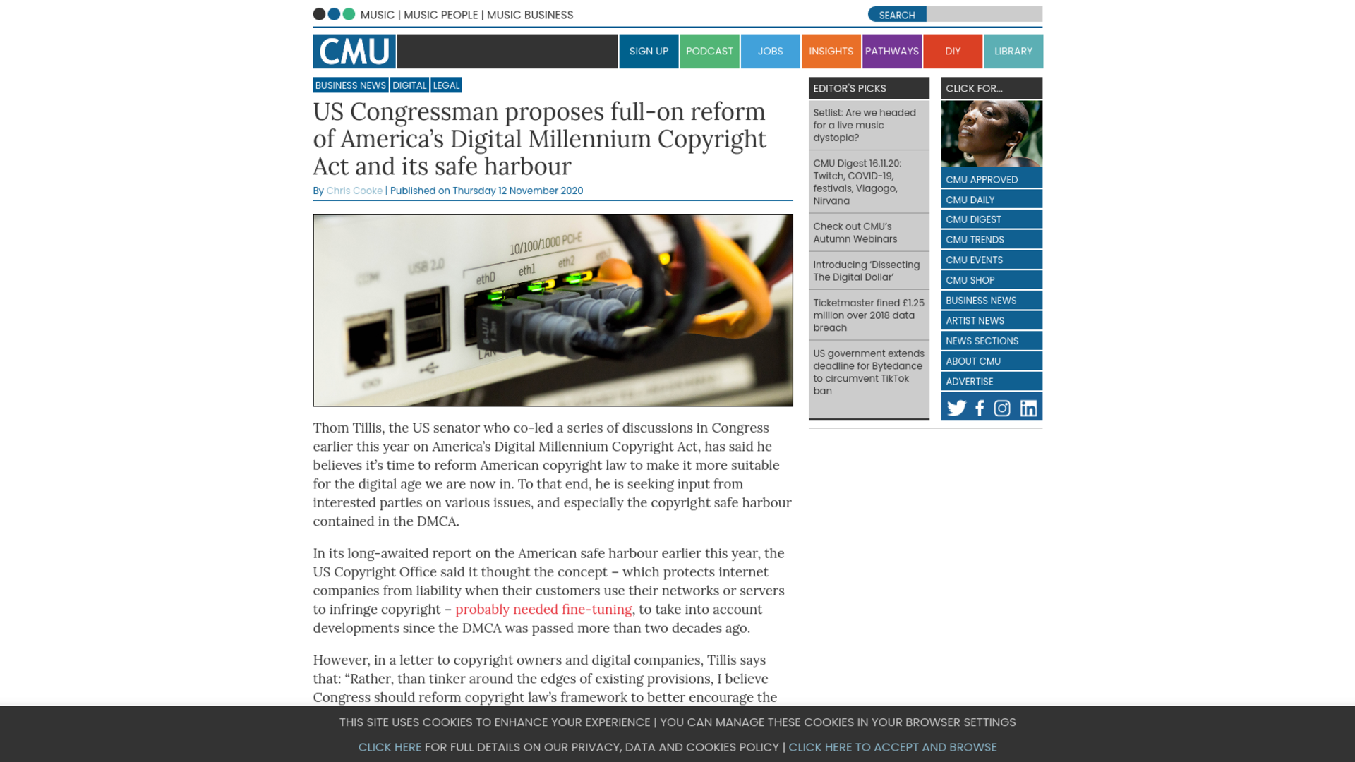 Fairness Rocks News US Congressman proposes full-on reform of America's Digital Millennium Copyright Act and its safe harbour
