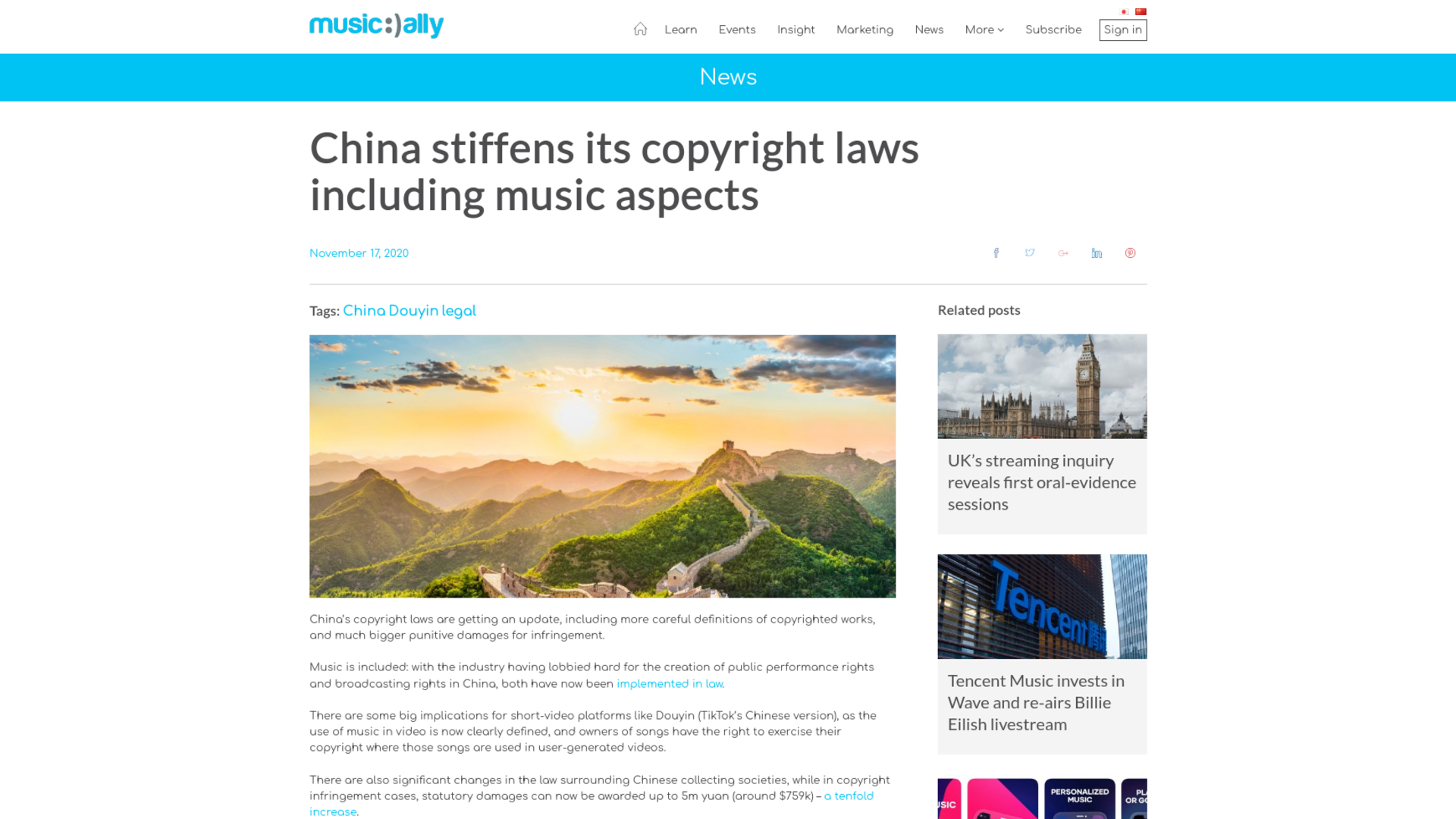Fairness Rocks News China stiffens its copyright laws including music aspects
