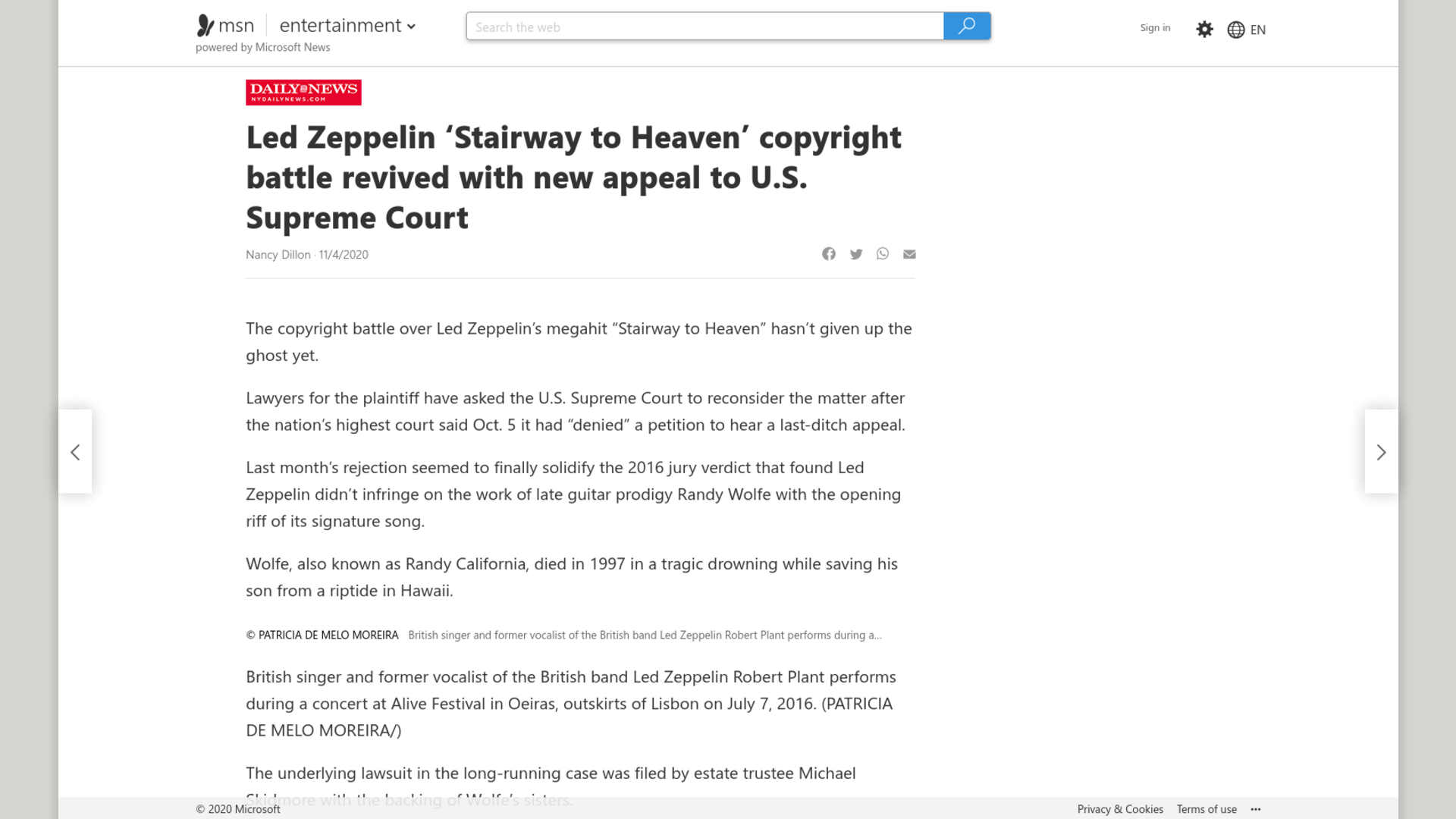 Fairness Rocks News Led Zeppelin 'Stairway to Heaven' copyright battle revived with new appeal to U.S. Supreme Court