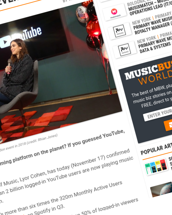 Fairness Rocks News Over 2bn YouTube users are now playing music videos every month
