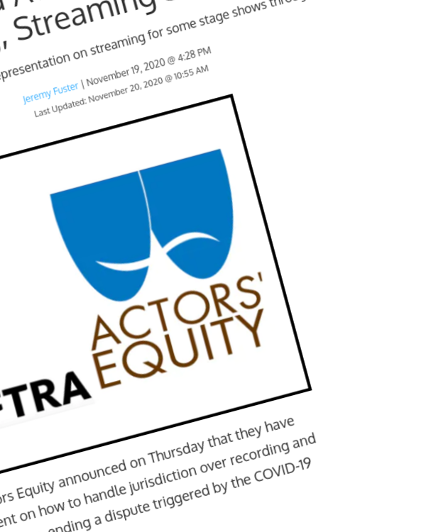 Fairness Rocks News SAG-AFTRA and Actors Equity Reach Deal on Recording, Streaming Stage Shows