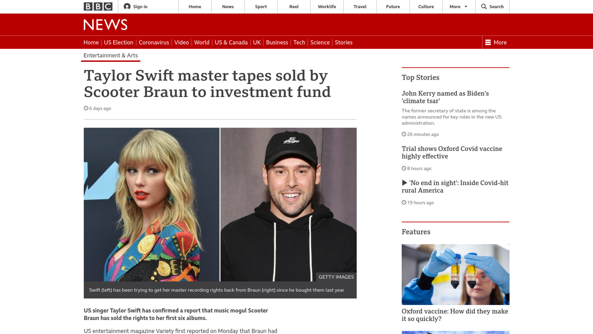 Fairness Rocks News Taylor Swift master tapes sold by Scooter Braun to investment fund