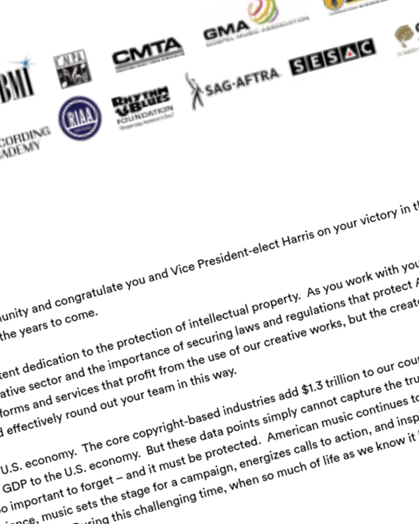 Fairness Rocks News ASCAP Calls on Biden Administration to Include Leaders Who Understand and Support Music Creators