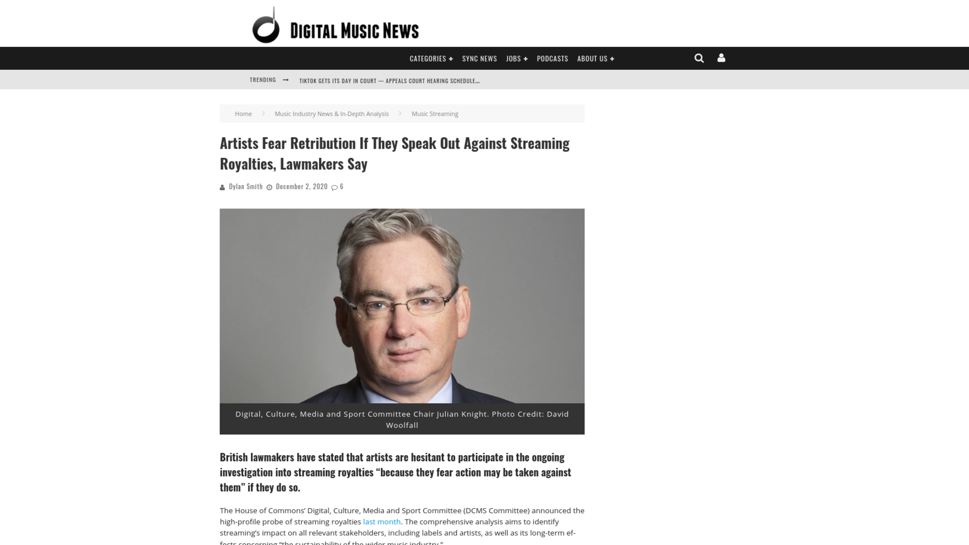 Fairness Rocks News Artists Fear Retribution If They Speak Out Against Streaming Royalties, Lawmakers Say