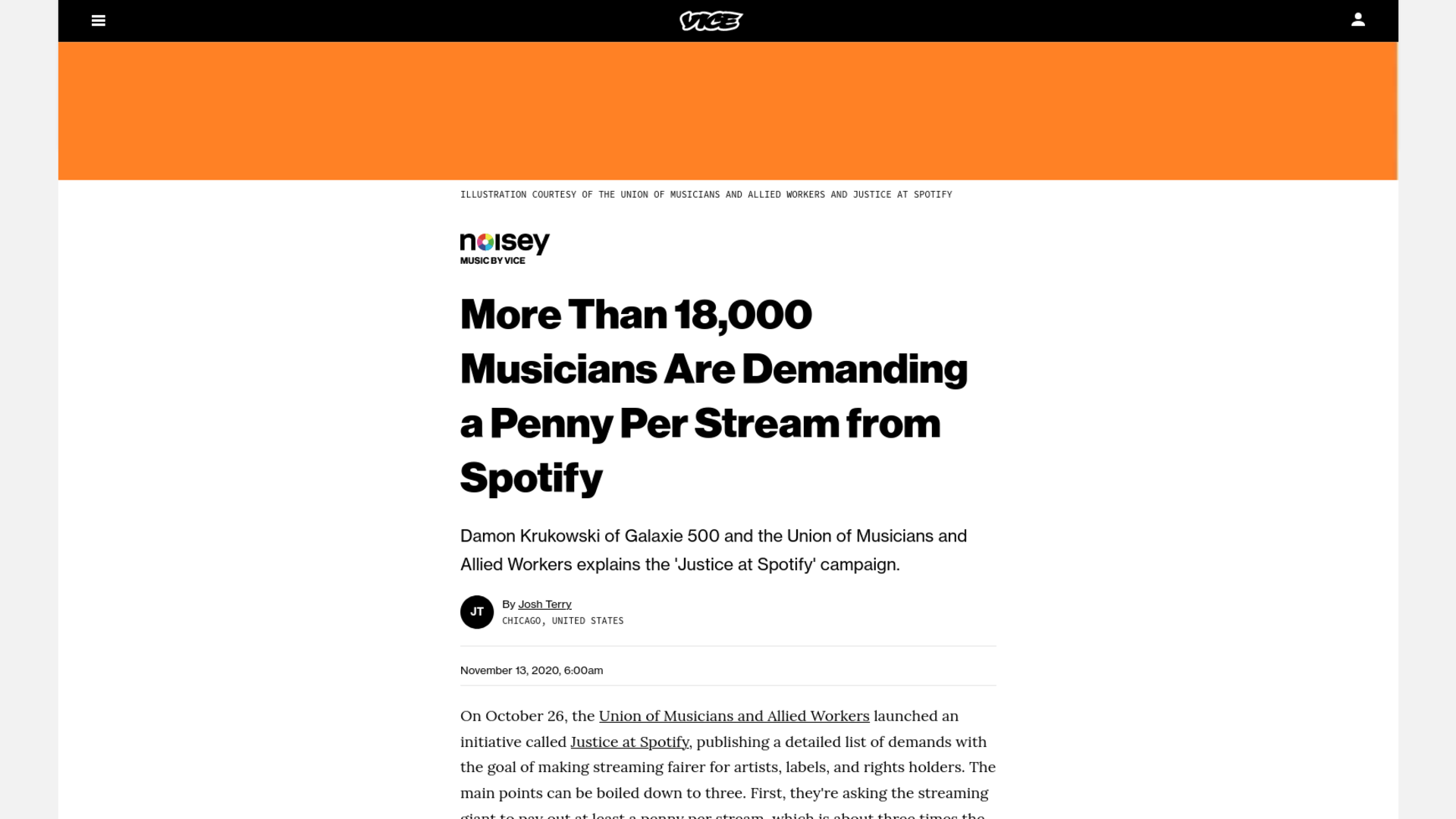 Fairness Rocks News More Than 18,000 Musicians Are Demanding a Penny Per Stream from Spotify