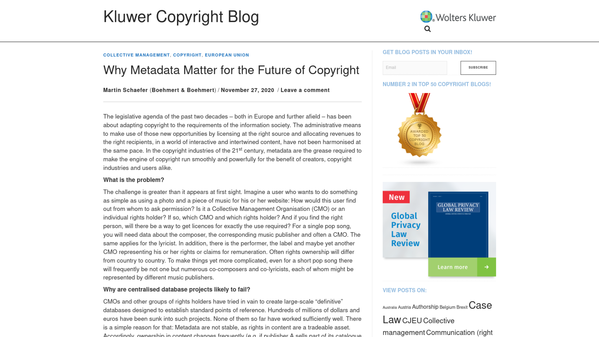 Fairness Rocks News Why Metadata Matter for the Future of Copyright