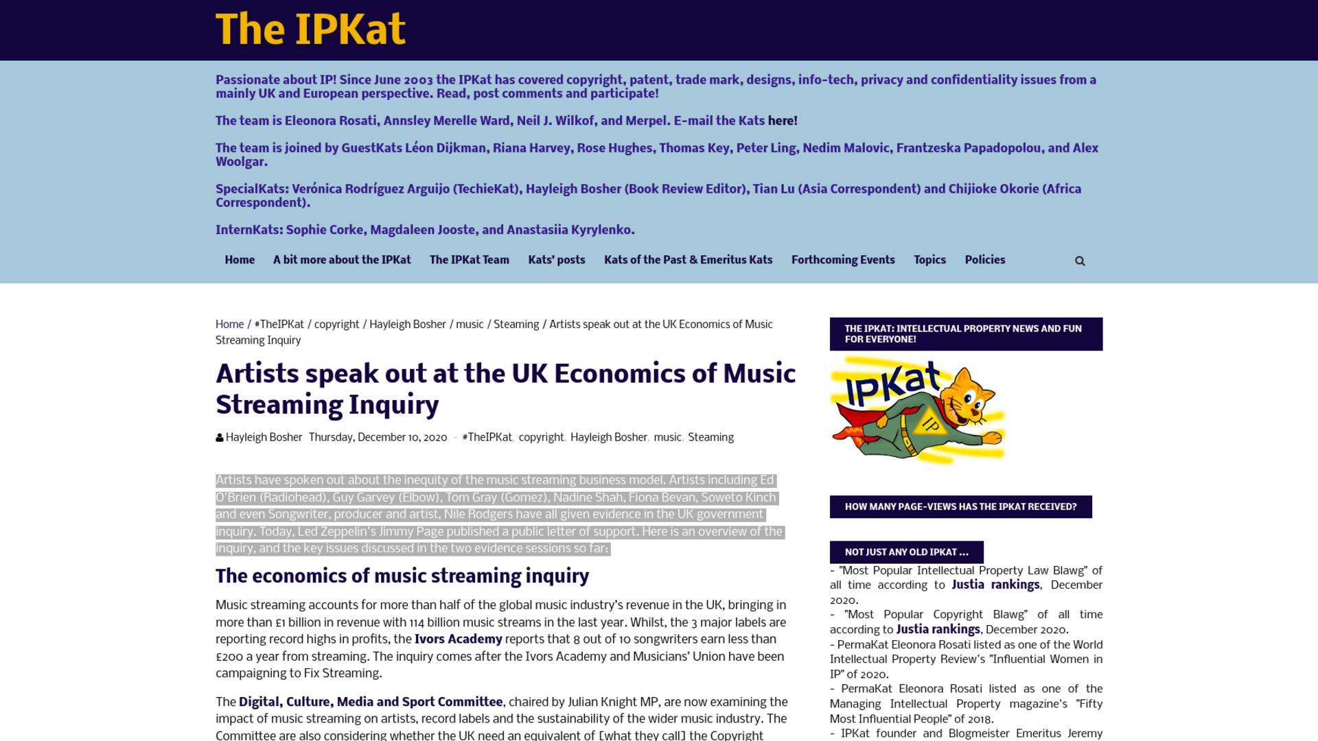 Fairness Rocks News Artists speak out at the UK Economics of Music Streaming Inquiry