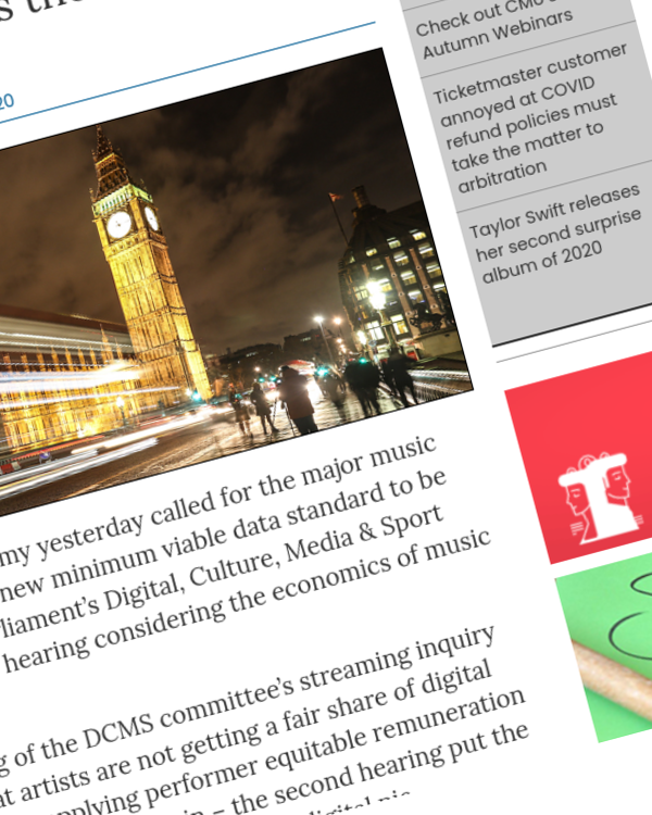 Fairness Rocks News Ivors Academy calls for regulation of major music firms and new data standards as Parliament again considers the economics of streaming