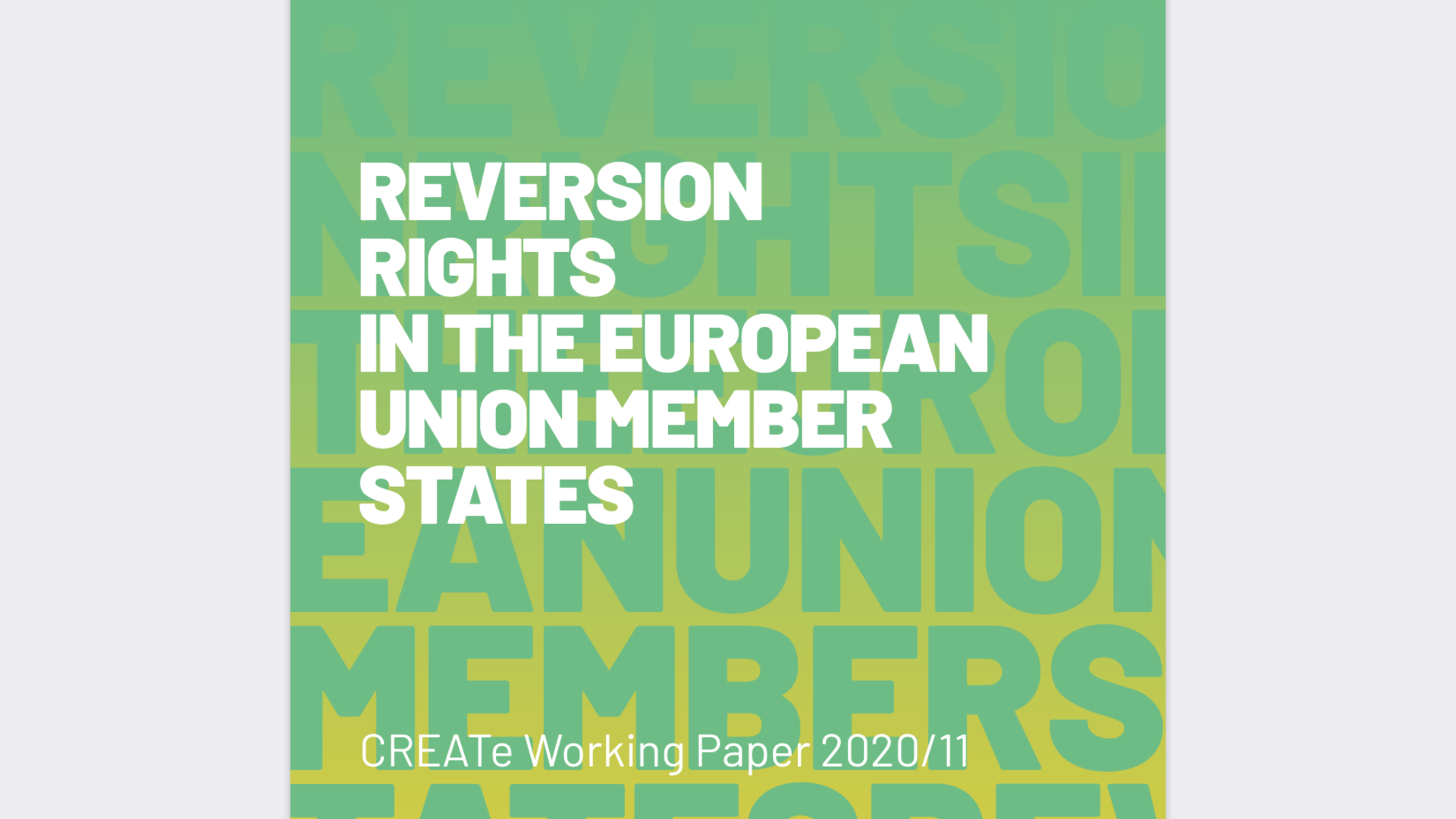 Fairness Rocks News Reversion rights in the European Union Member States