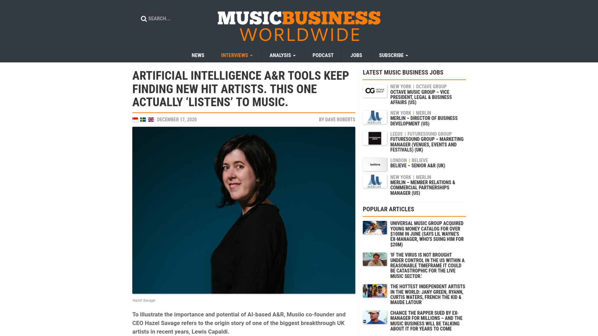 Fairness Rocks News Artificial intelligence A&R tools keep finding new hit artists. This one actually 'listens' to music.