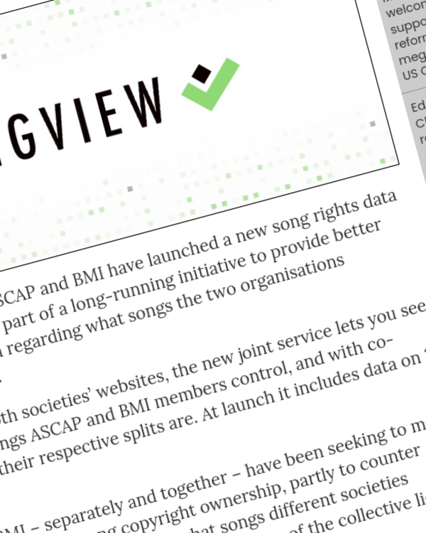 Fairness Rocks News ASCAP and BMI launch new song rights data service