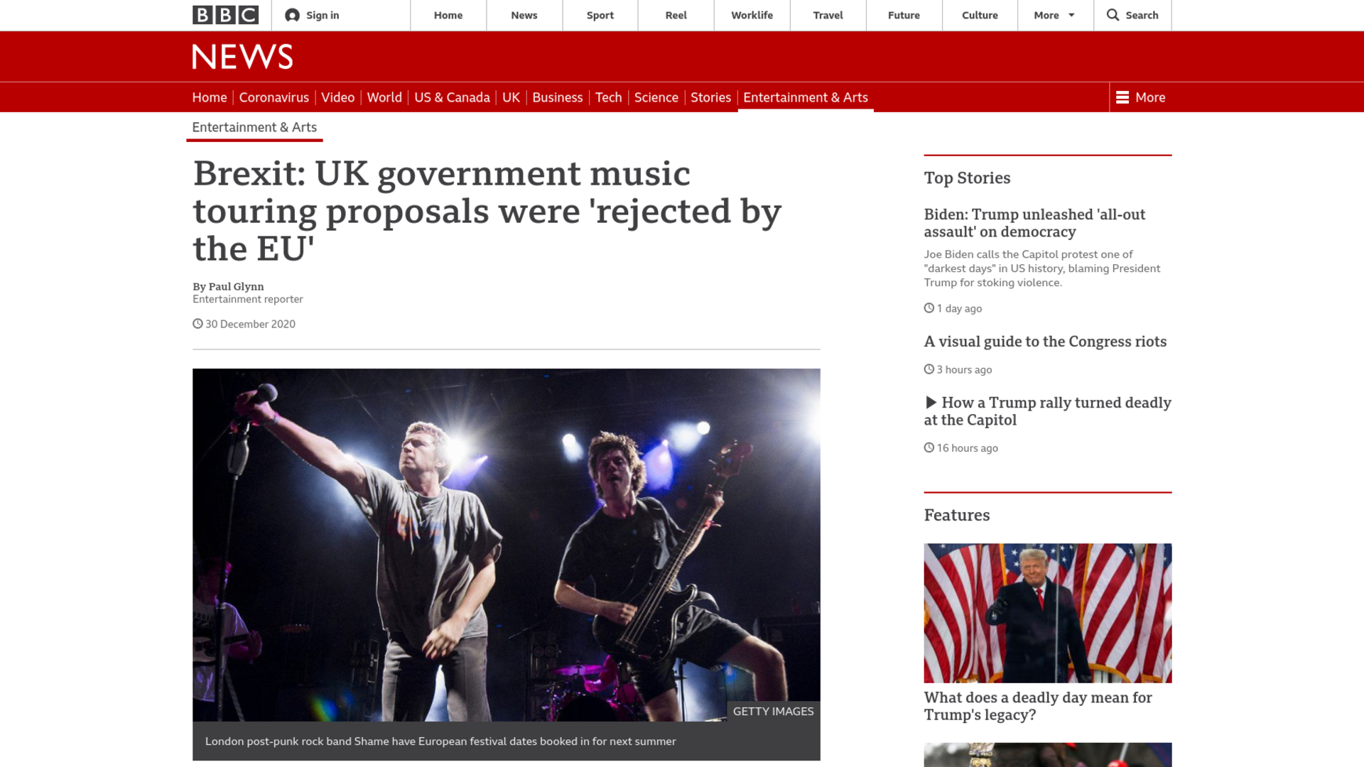 Fairness Rocks News Brexit: UK government music touring proposals were 'rejected by the EU'