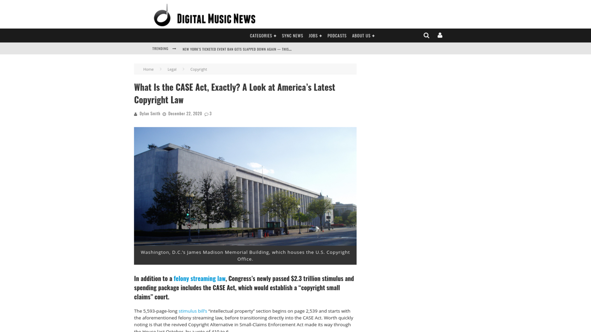 Fairness Rocks News What Is the CASE Act, Exactly? A Look at America's Latest Copyright Law