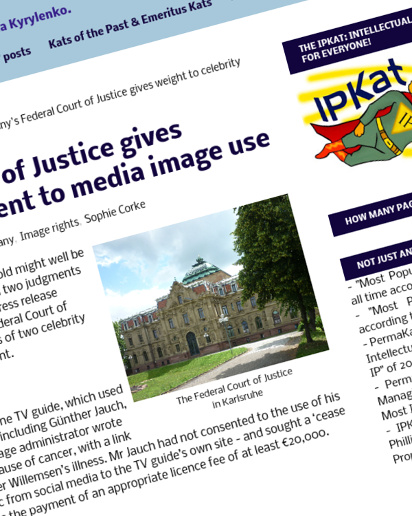 Fairness Rocks News Germany's Federal Court of Justice gives weight to celebrity consent to media image use