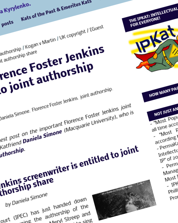 Fairness Rocks News Unsung Florence Foster Jenkins screenwriter is entitled to joint authorship share