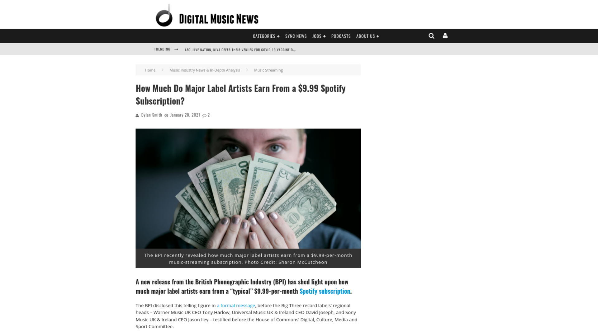 Fairness Rocks News How Much Do Major Label Artists Earn From a $9.99 Spotify Subscription?