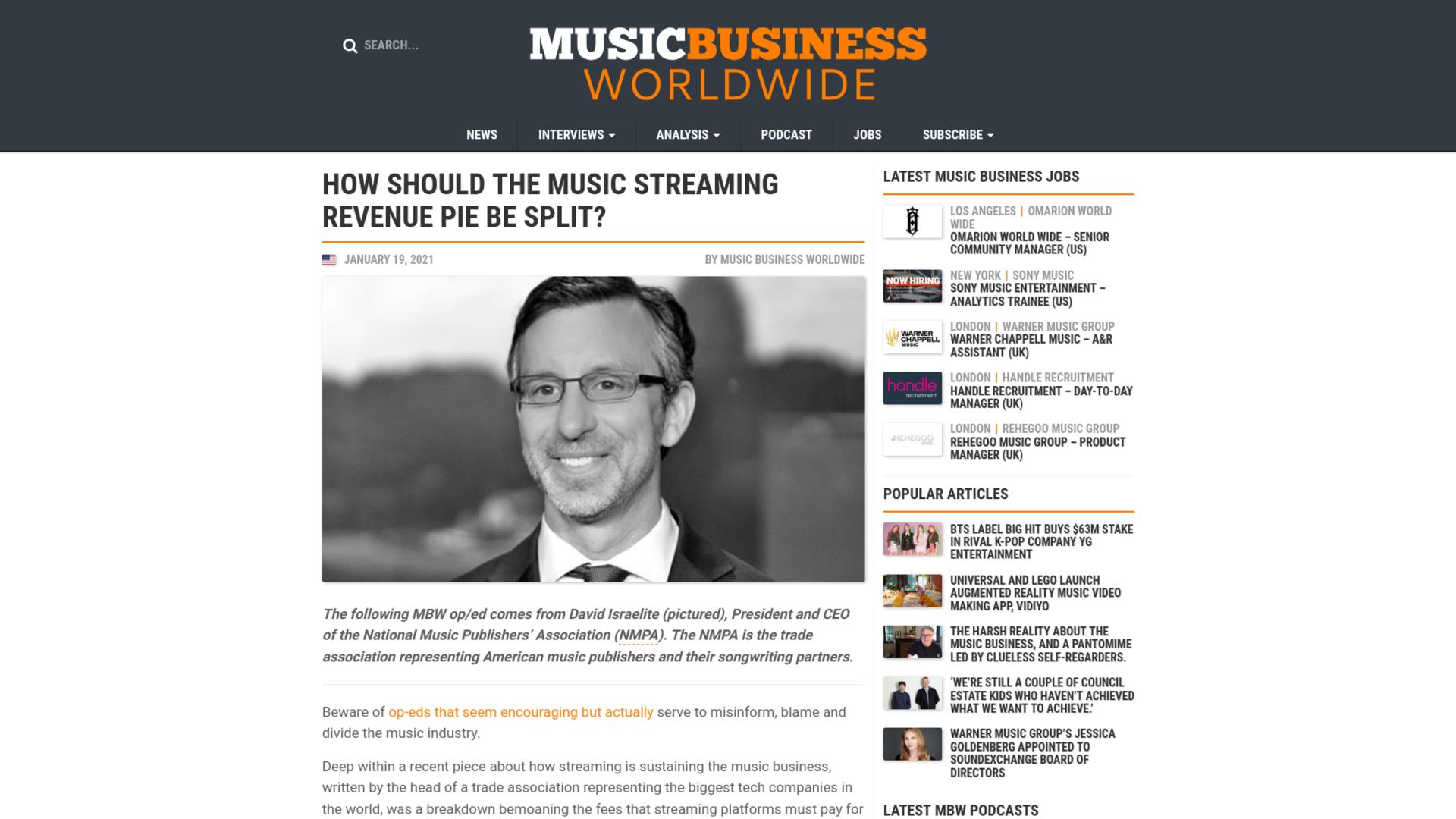 Fairness Rocks News How Should the Music Streaming Revenue Pie Be Split?