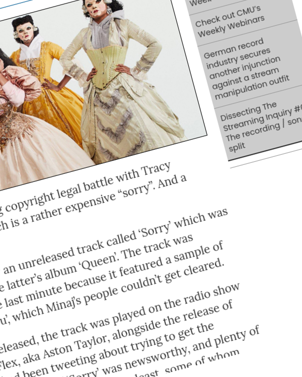 Fairness Rocks News Nicki Minaj resolves Tracy Chapman copyright case with $450,000 payment