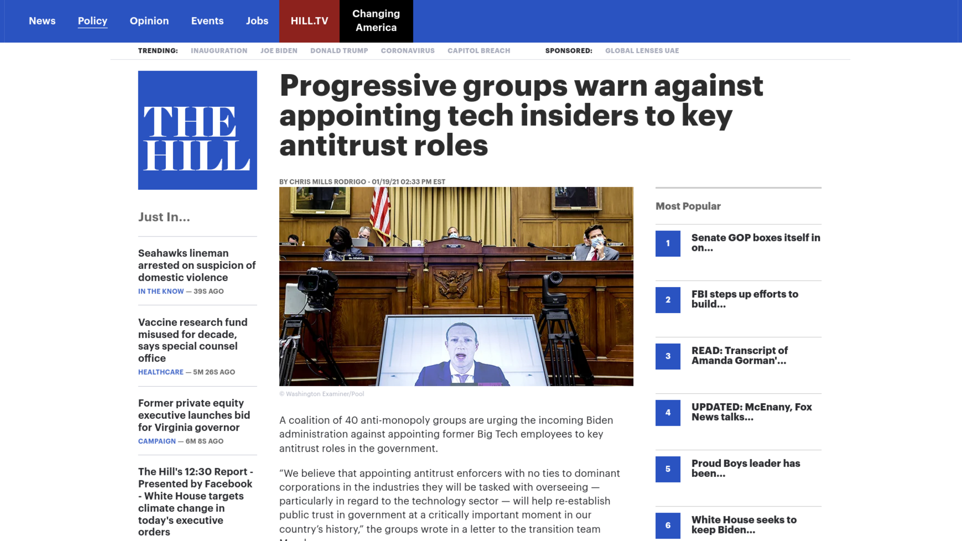 Fairness Rocks News Progressive groups warn against appointing tech insiders to key antitrust roles
