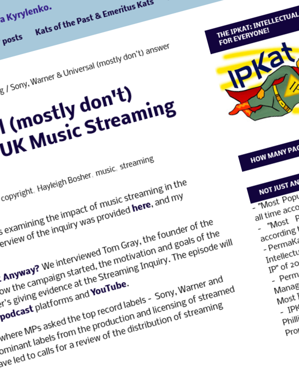 Fairness Rocks News Sony, Warner & Universal (mostly don't) answer questions at the UK Music Streaming Inquiry