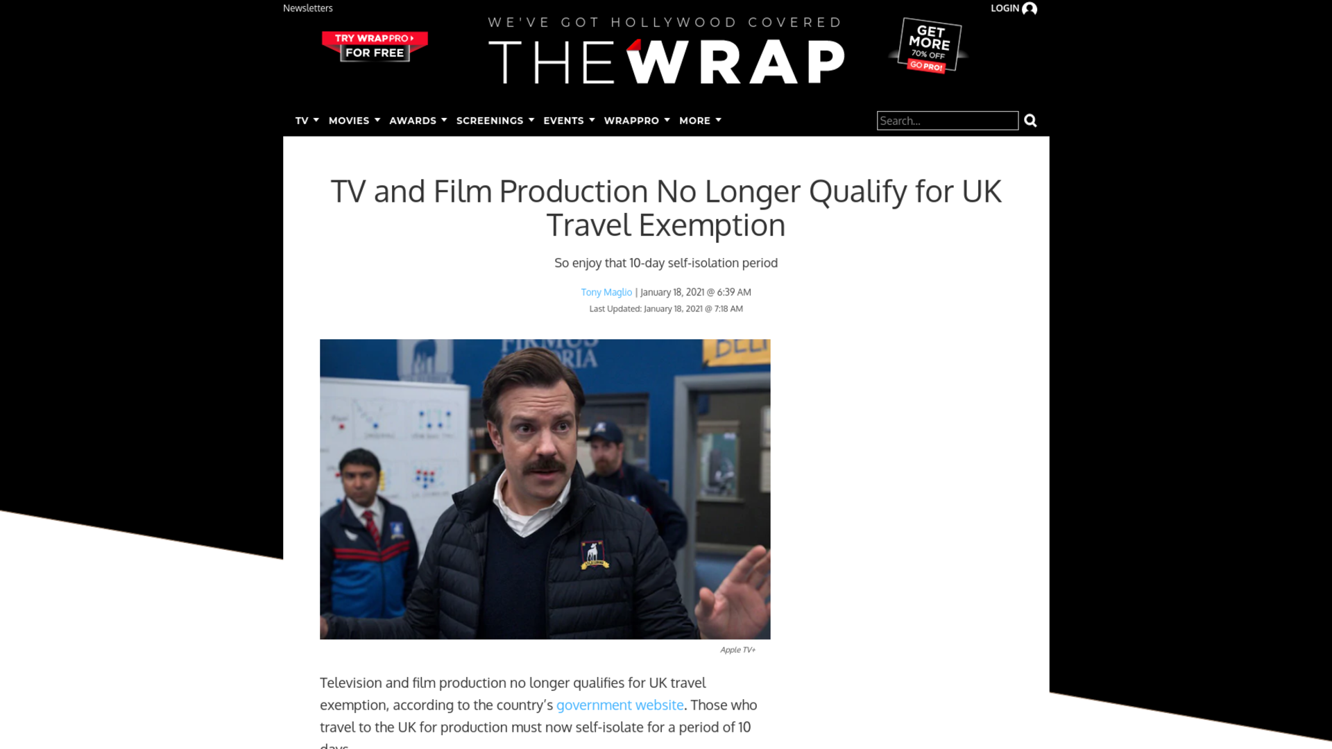 Fairness Rocks News TV and Film Production No Longer Qualify for UK Travel Exemption